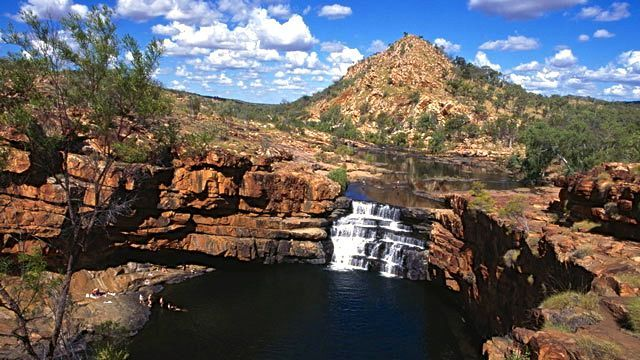 Gibb River Road, along drive can cliff dive, swim in watering holes, and camp for free
