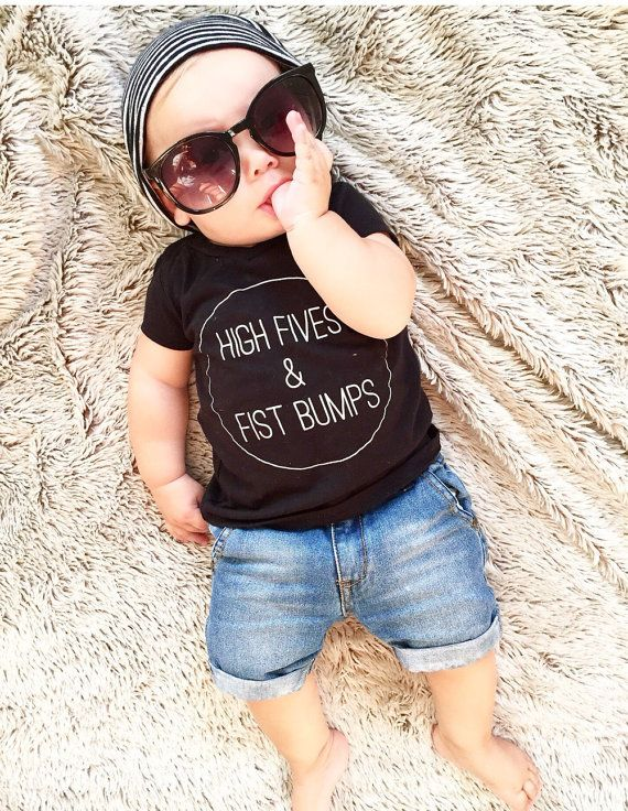High Fives & Fist Bumps kids graphic tee - Little Beans Clothing @littlebeans_co #kidsfashion