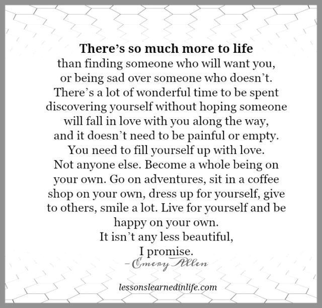 Lessons Learned in Life | Be happy on your own.