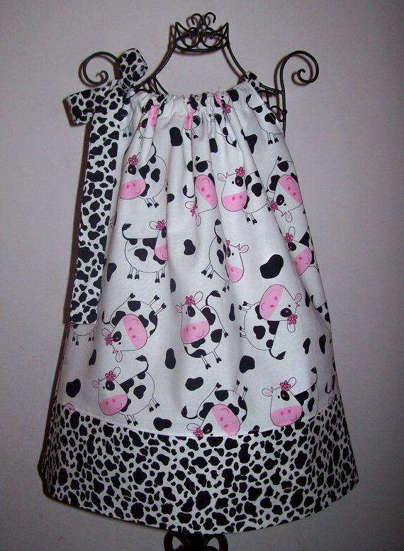 cow print pillow case dress