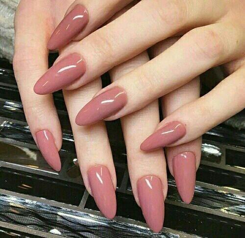 Image result for almond gel nails mauve