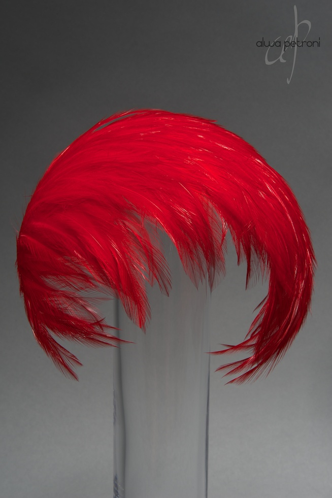1950ies feather bandeau hat. by Alwa Petroni