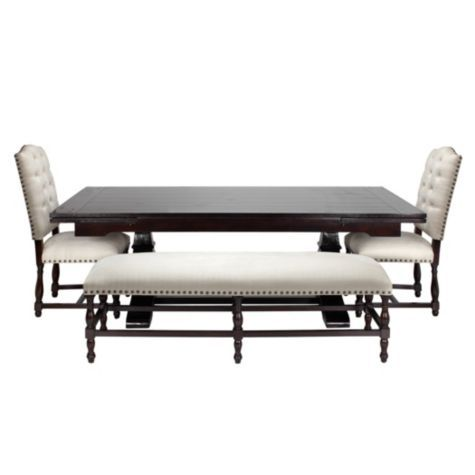 Montecito Dining Table From Z Gallerie Im Thinking Some Chairs With Color On The Ends