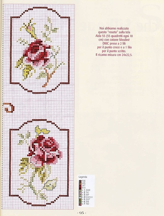 Cross-stitch Framed Roses, part 2.. with the color chart... Gallery.ru / Фото #5 - цветики - Ritusya
