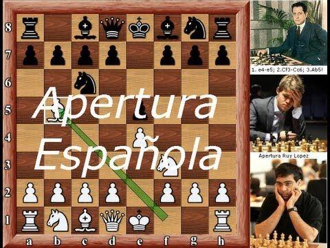 Apertura Española - Ajedrez Aperturas - Ruy Lopez por MI Fermin Gonzalez - YouTube