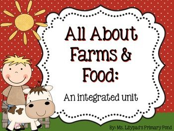 Farm unit!  Complete lesson plans, a readaloud book, printable books for guided reading, and centers materials - tons of resources. $