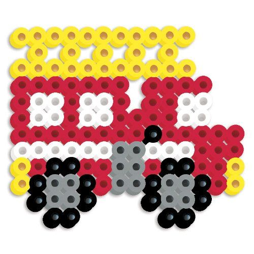 Perler Beads Silicone Pegboard Fused Bead Kit - Fire Truck $1.00 #bestseller