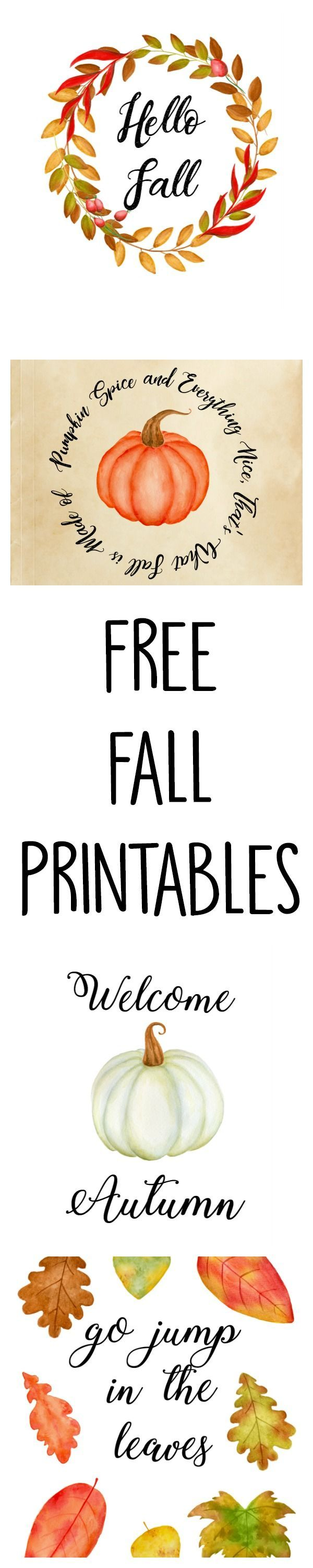 5 Free Fall Printables. Download them now!  #fall #autumn #printables #fallprintables #falldownloads #fallart #autumnart #freebies