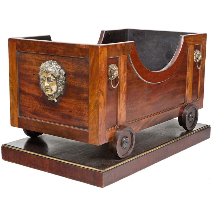 Exquisite Early 19th Century Regency Mahogany Wine Cooler of an Unusual Form, English, ca. 1810.