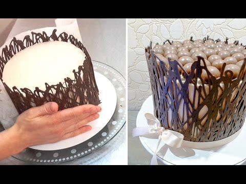getlinkyoutube.com-Chocolate Cage Decoration Tip 초콜릿 장식 케이크