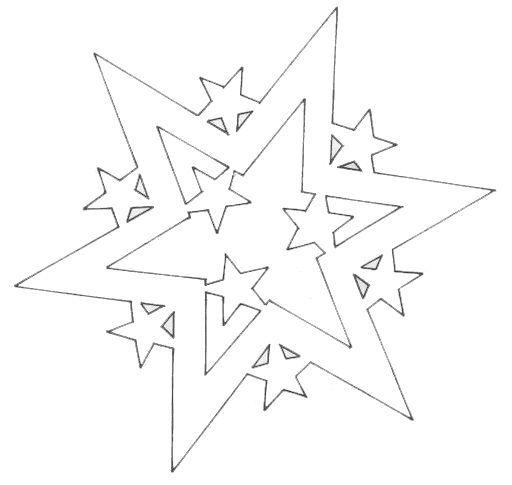 """4 star """"snowflakes"""""""