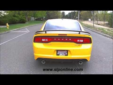 SLP 2012 Charger SRT8 6.4L Long Tube Headers (D30003A) & Loud Mouth Cat-Back Exhaust (#D31004) - YouTube