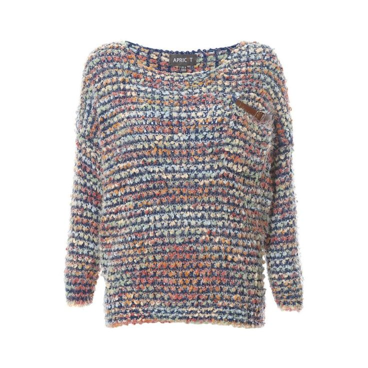 Multi-Coloured Soft Yarn Fluffy Knit Slouchy Off Shoulder Jumper Womens Size 16