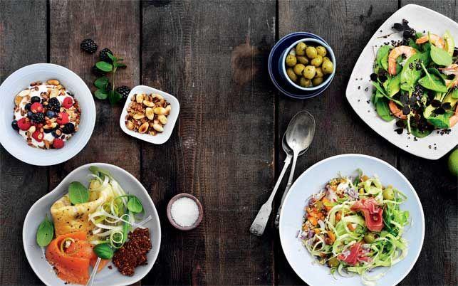 Her får du 7 retter fyldt med gode fibre, olier, vitaminer og protein, som holder dig mæt og maven flad fra morgen til aften. Så bli'r det ikke lettere.