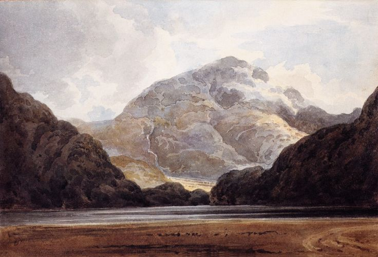"Thomas Girtin, ""View Near Beddgelert,"" 1798."
