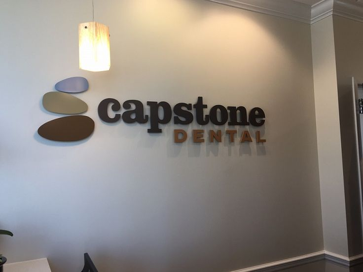 Dimensional Acrylic Letters and Logo Design --- Lobby Sign --- for Capstone Dental of Charlotte, by JC Signs Charlotte. #interiorsigns #lobbysigns #logosigns #officesignage