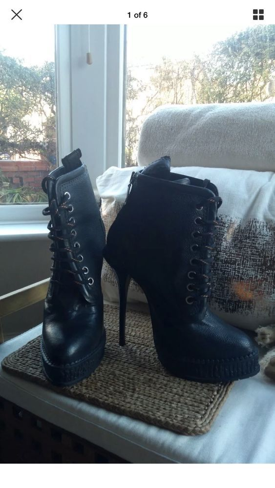 Topshop Boutique black lace up cleated thick platform high boots size 5 | Clothes, Shoes & Accessories, Women's Shoes, Boots | eBay!