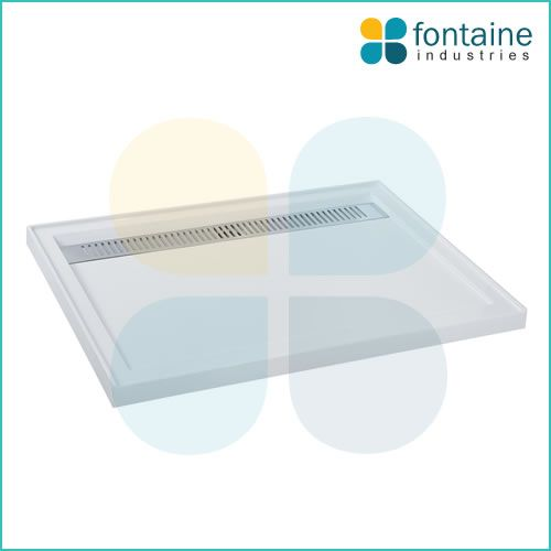 $279.00 - Quad Shower Base 1200mm | Fontaine Industries - POLYMARBLE - STAINLESS STEEL GRILL COVER