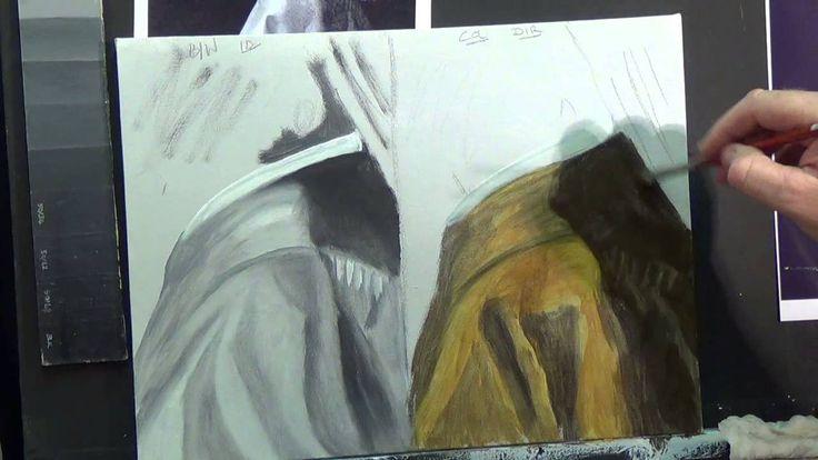 Painting Drapes Acrylic