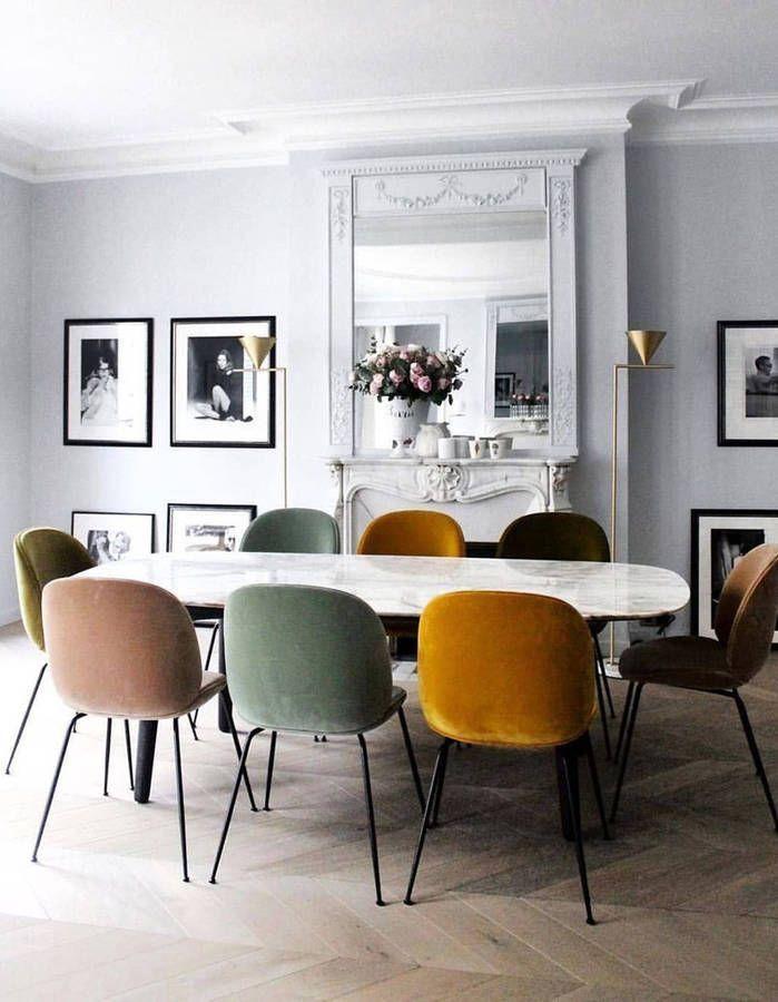 La Chaise Beetle De Gubi La Conquerante Elle Decoration Interieur Woonkamer Huis Interieur Eetkamer Idee