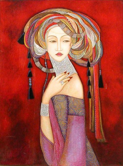 Faiza Maghni #figure #portrait