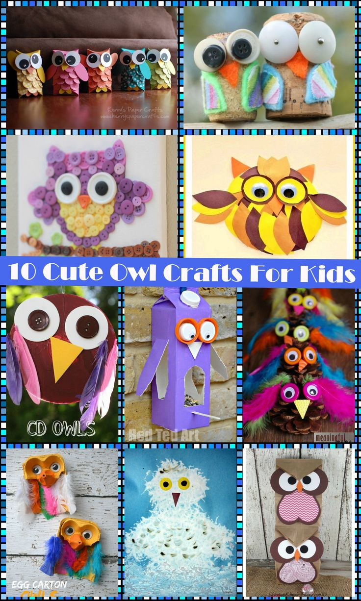 10 cute owl arts & crafts project for kids - Preschool ideas and owl activities