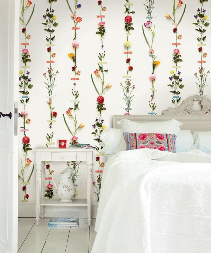 Kaschku | Papel de parede floral | Padrões de papel de parede | Papel de parede dos anos 70