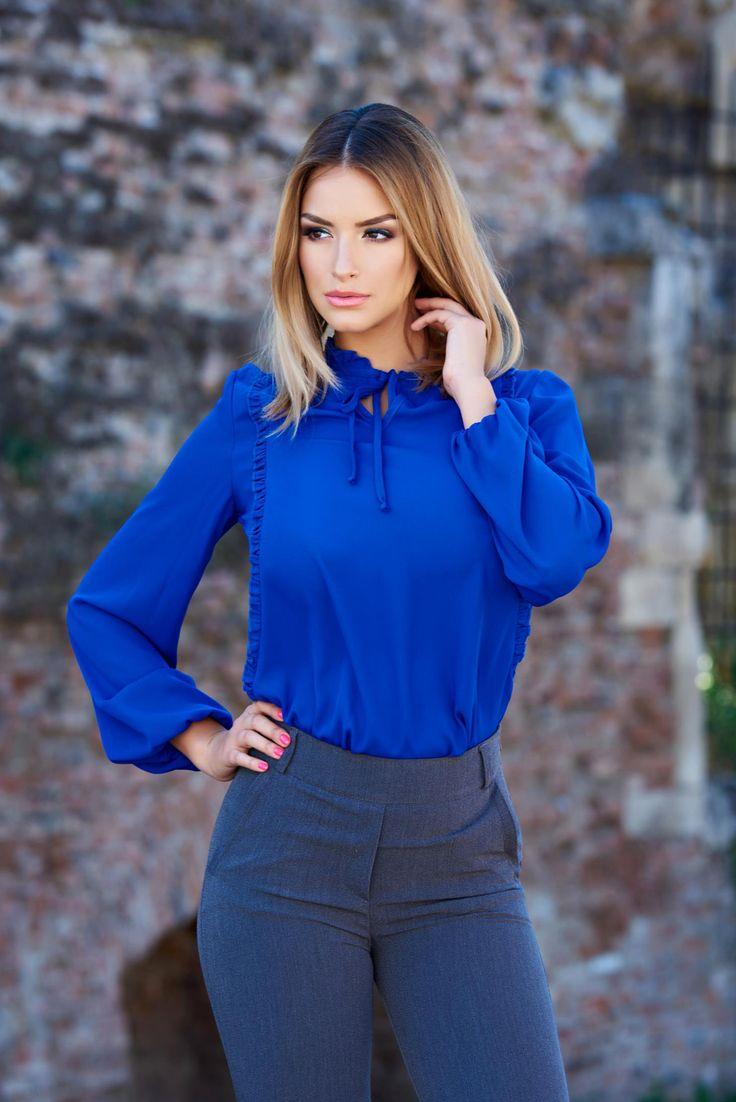 Bluza LaDonna Emotional Feelings Blue. Camasa LaDonna din material neelastic…