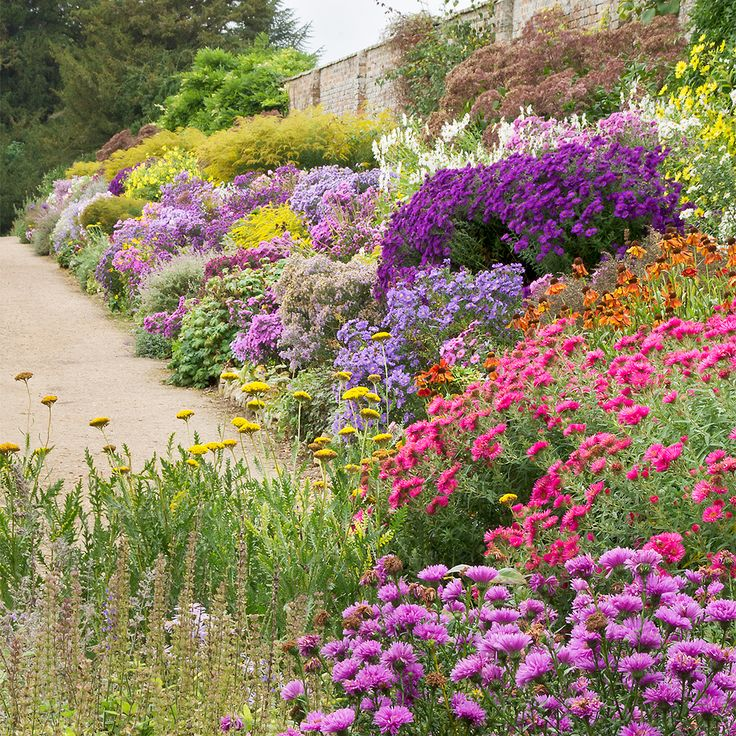 English Herbaceous Borders | Waterperry Gardens, Oxfordshire, UK | ( 2 of 50)…