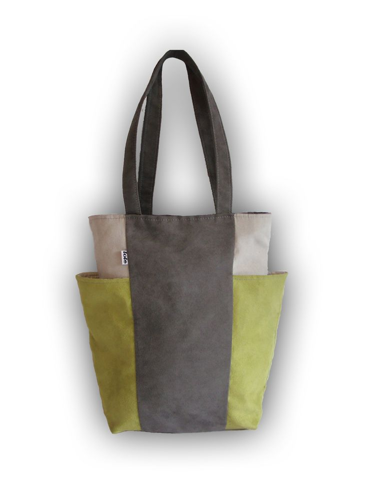 News news news! bag BIG POCKETS grey lime