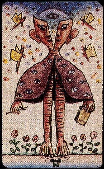 Alejandro Xul Solar - Carta del Tarot 23