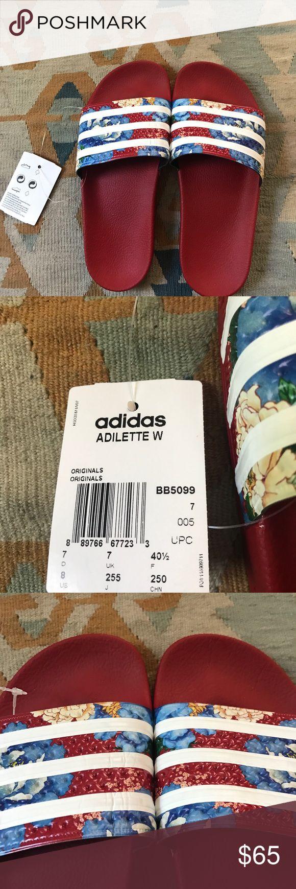 NWT adidas adilette slides, US womens size 8 NWT