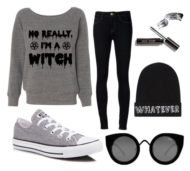 Black grey by aninditaarr on Polyvore featuring polyvore, fashion, style, Ström, Converse, Local Heroes, Quay, black, grey and sneakers
