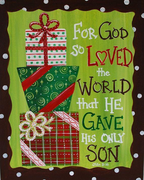 Christmas -God so loved the world