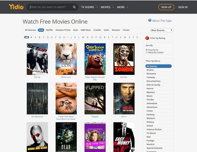 The Best Free Movie Streaming Sites | Streaming movies free, Movie  streaming websites, Free tv shows online