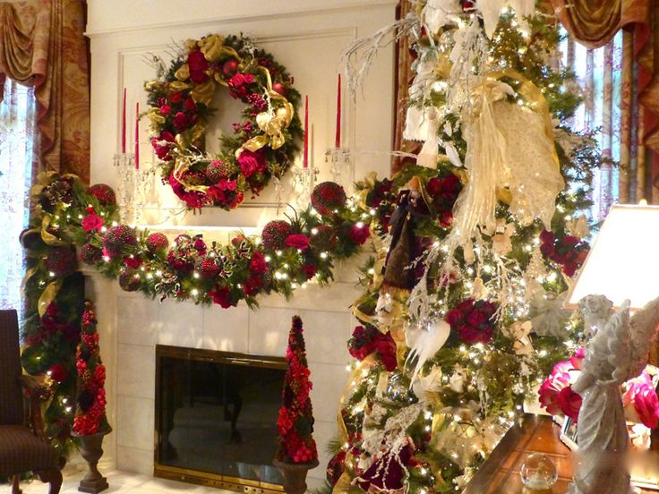 Wisteria Flowers And Gifts Christmas Fireplace