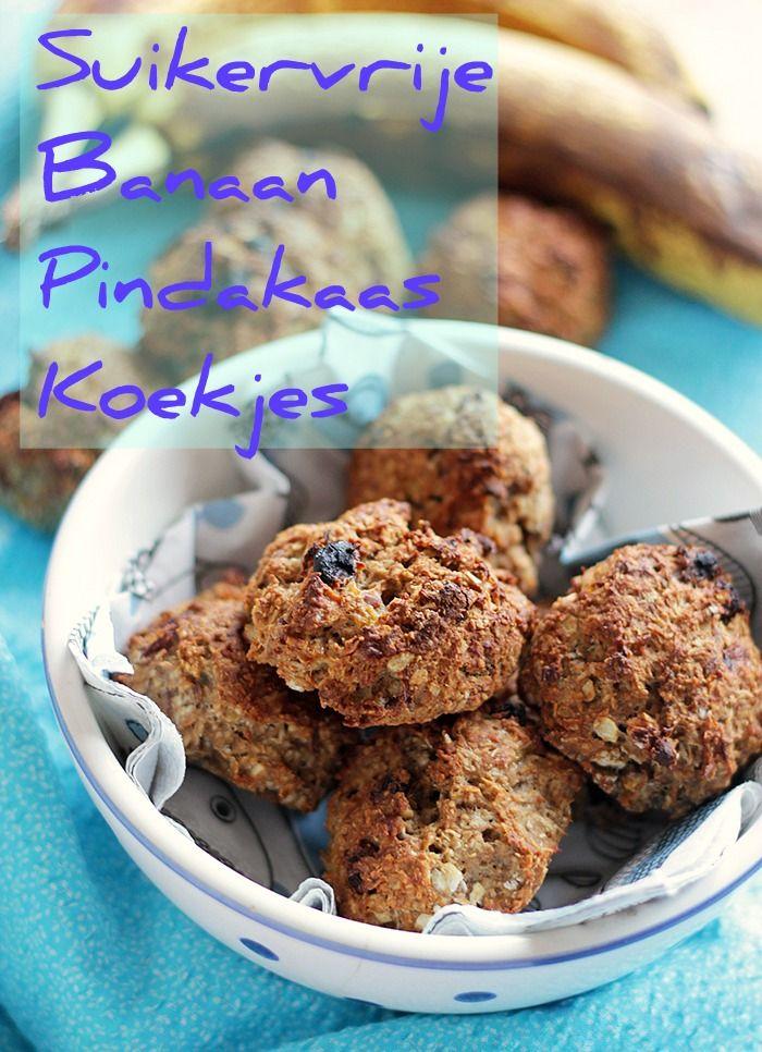 Suikervrije Pindakaas Banaan Havermout Koekjes