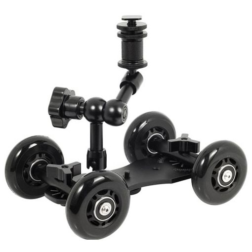 58.00$  Buy here - http://aligfm.shopchina.info/go.php?t=32740855044 - Good Quality Camera Rail Cars Mute Slide Desktop Slide Drift Car 5D2 SLR Photography   #magazineonline