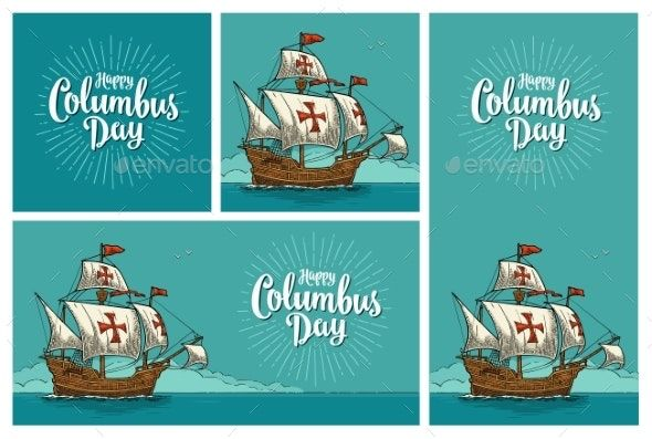 Posters For Happy Columbus Day Sailing Ship Ad Columbus Sponsored Happy Posters Ship Happy Columbus Day Vintage Photoshop Actions Columbus