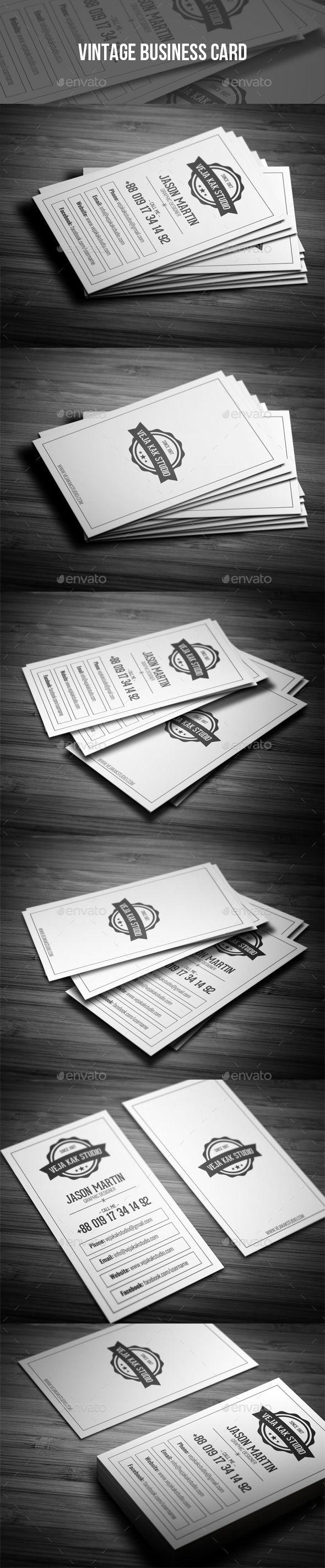 Vintage Business Card - Retro/Vintage Business Cards Download here : https://graphicriver.net/item/vintage-business-card/19396922?s_rank=11&ref=Al-fatih