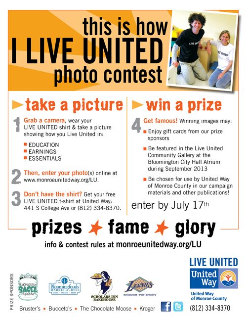 united way of monroe countys photo contest ends july 17th campaign ideasfundraising