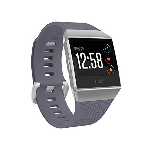 Fitbit Ionic Smarch Blue Gray Silver One Size S L Bands Included