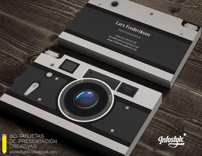 diseño de tarjetas de presentacion para fotografia