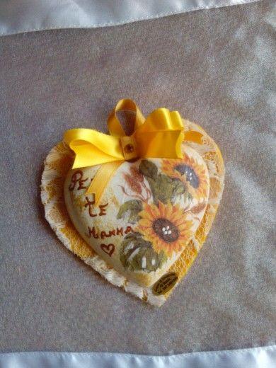 Cuore profumato in gesso ceramico x la festa della mamma