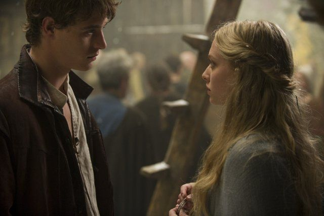 Her hair. Still of Amanda Seyfried and Max Irons in Red Riding Hood