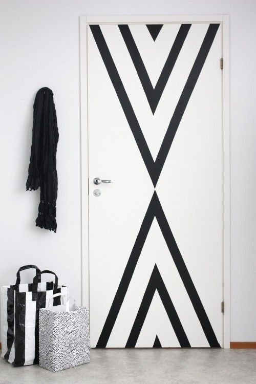 Perfect idea... Especially when you're in an apartment that would allow you to paint the walls anything but why they didn't say anything about adding a little something in the wall is still white.  From Apartment - Alana Jones Mann