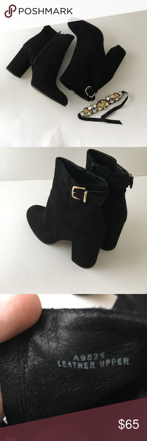 J crew ankle boots Black ankle boots size 8 J. Crew Shoes Over the Knee Boots