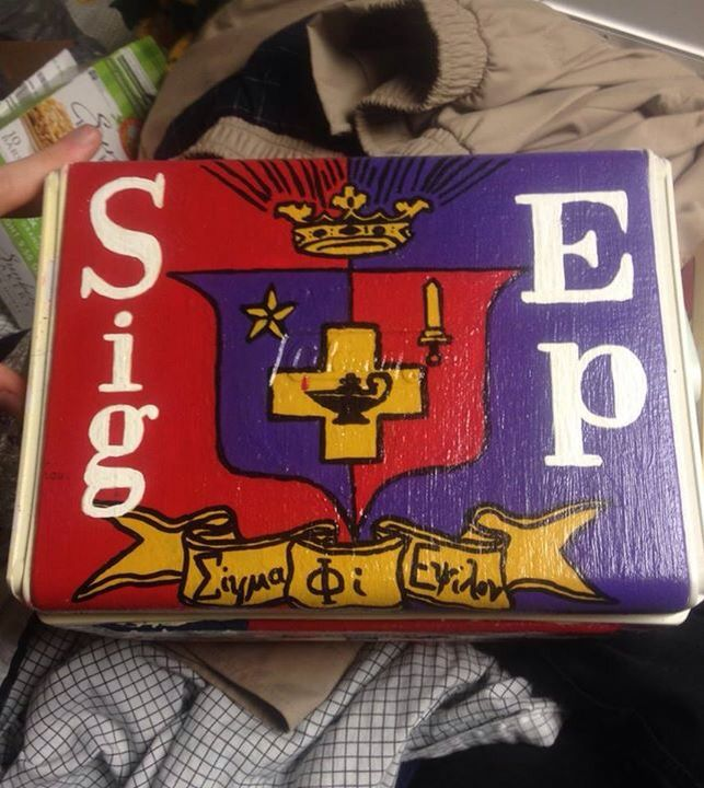 Sigma phi epsilon SPE SigEp cooler top shield