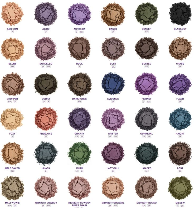 Urban Decay eyeshadows - I will someday own ALL Urban Decay products <3