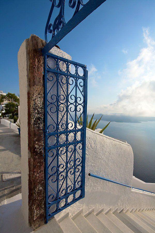 Gate to the Aegean in Santorini , Greece